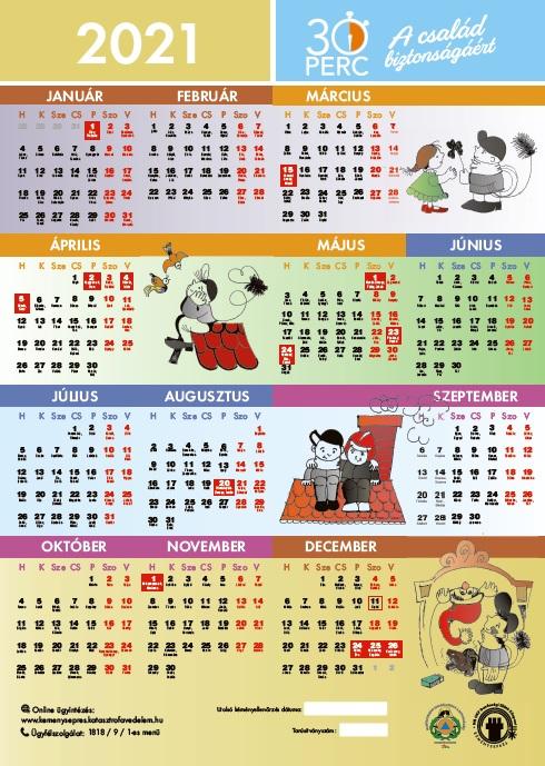 2021-es naptár előképe